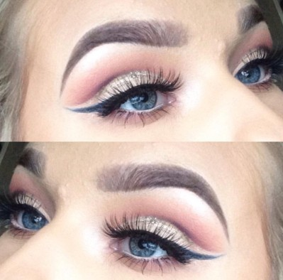 Jodi Roche Glitter Cut Crease Makeu Up